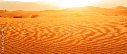 Sunset in desert - 64640854
