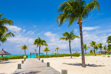 Stunning white beach in Turks and Caicos on Carribean