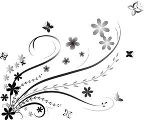 Floral abstract isolated on white
