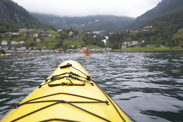 Kayaking the Fjord into Geiranger Norway
