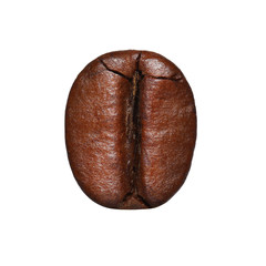 Coffee Bean isolated. Macro