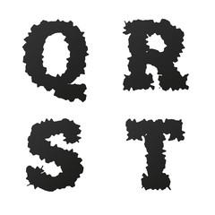 Abstract black vector alphabet