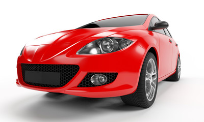 3d rendered illustration of a small car