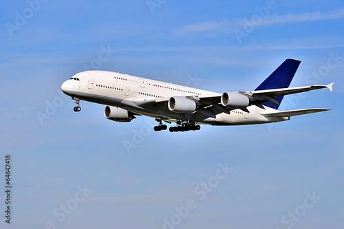 Fotobehang Vliegtuig Im Anflug