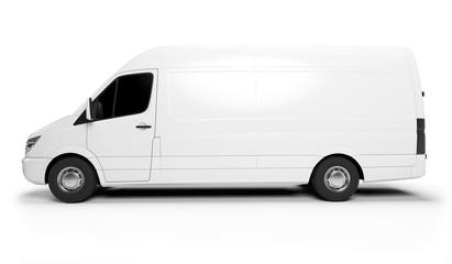 3d rendered illustration of a white transporter.