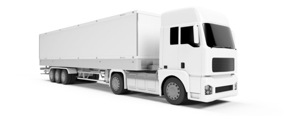 3d rendered illustration of a white truck