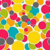 Abstract Glossy Circle Seamless Pattern Background Vector Illust - 64642819