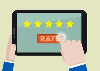 tablet rating five stars