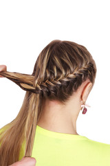 Braiding. Hairstyle