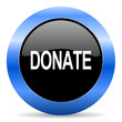 donate blue glossy icon