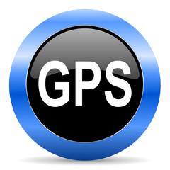 gps blue glossy icon