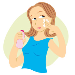 woman undergoing facial cream