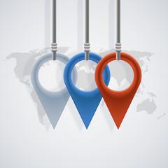 vector modern map pointer background