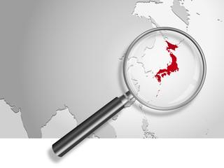 Landkarte *** Asien Japan