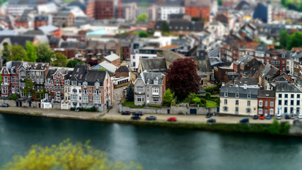 The bird's eye view of Namur