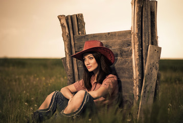 cowgirl rural portrait