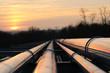 Leinwanddruck Bild - crude oil pipeline transportation way  on african continent