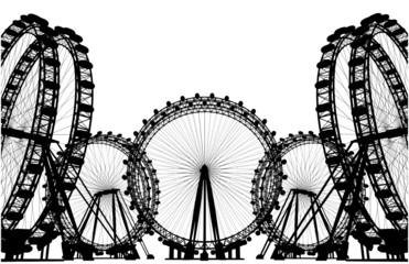 Carousel Field Silhouette Vector