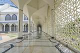 Floor marble reflection at mosque corridor