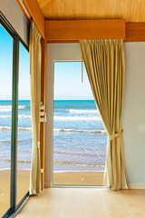 Room at beach on daylight