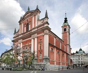 Franciscan Church in Ljubljana. Slovenija