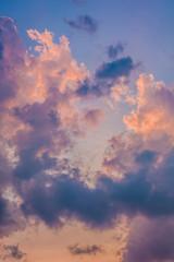 Beautiful cloud at sunset