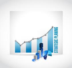 strategic planing business graph illustration