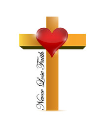 religious cross. never lose faith message