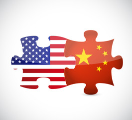 usa and china illustration design