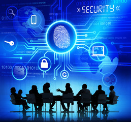 Business People with System Security Concept