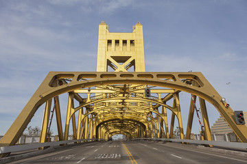The Golden Tower Bridge at Sacramento, USA