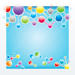 Abstract background of the molecular structure.