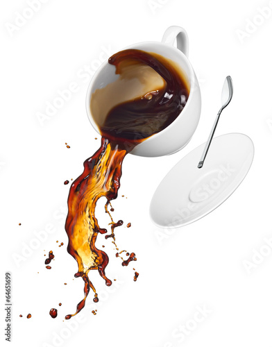 coffee spilling - 64651699