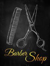 Barbier ciseaux peigne