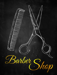 Barber shop Scissors comb