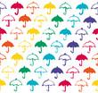レインボーカラーの傘 雨の日 背景