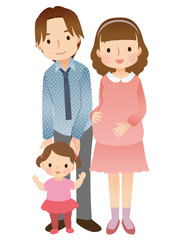 幼い子供のいる家族 妊婦