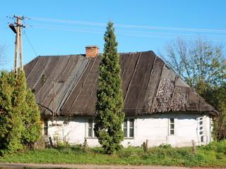Typical house in Polesie region, Poland