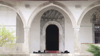 Entrance to prayer hall of the mosque
