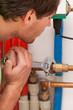 Plumber mending valves
