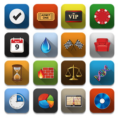 App Icons - Vector app icons, Vector illustration of application
