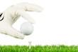 den golfball in position bringen