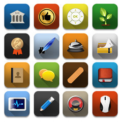 Vector app icons, illustration of application icons set