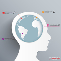 Infographic Human head design template