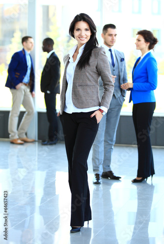 beautiful businesswoma in office