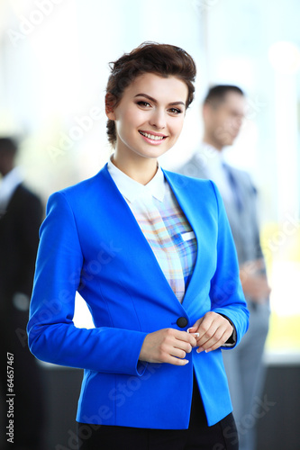 Face of beautiful businesswoma in office