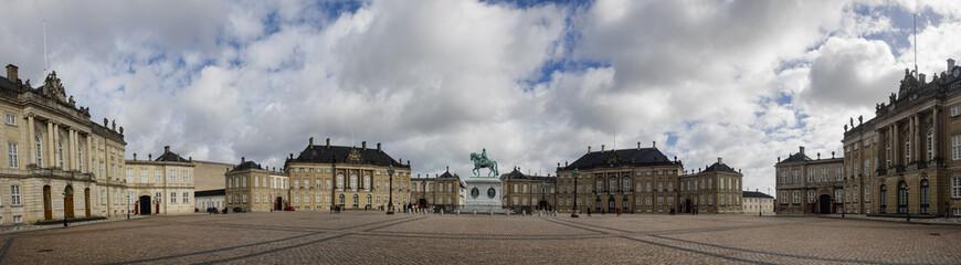 Amalienborg castle, residence of the Royal Danish family