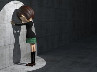 落胆する女子学生