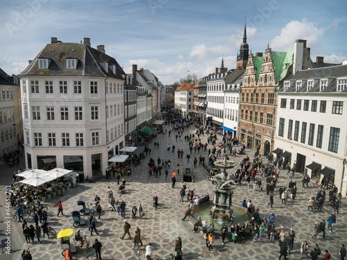 Amagertorv - central square in Copenhagen, Denmark - 64658231