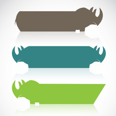 Vector image of an rhino banners